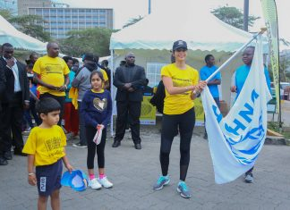 Step for Safety, A Public Walk Organized In Support of Families Forced to Flee their Homes