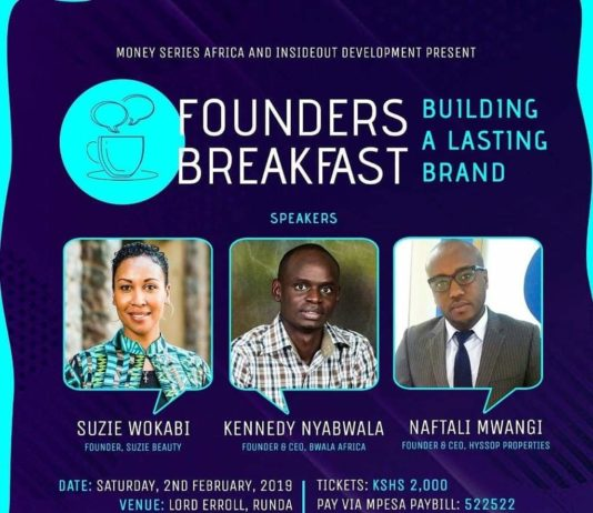 The Founders Breakfast February Edition To Be Headlined By Suzie Wokabi, Kennedy Nyabwala & Naftali Mwangi